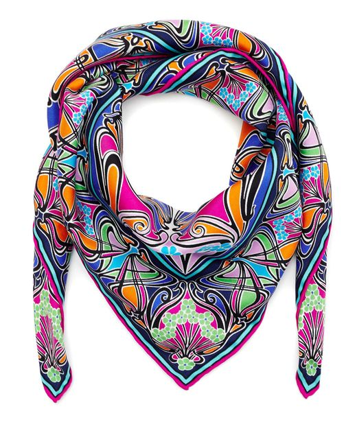 Liberty | Pink New Ianthe 70x70 Silk Scarf | Lyst