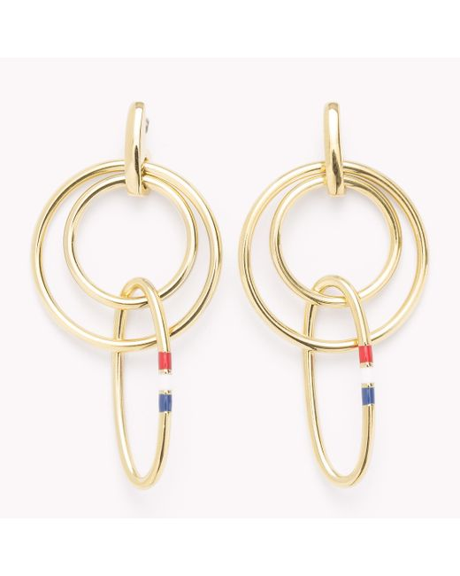 Tommy Hilfiger | Metallic Signature Earrings | Lyst