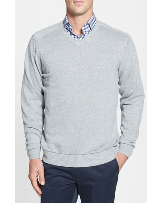 Cutter & Buck | Gray 'broadview' V-neck Sweater for Men | Lyst