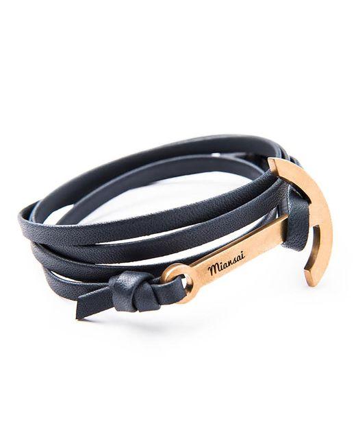 Miansai | Blue Modern Anchor Leather Bracelet | Lyst