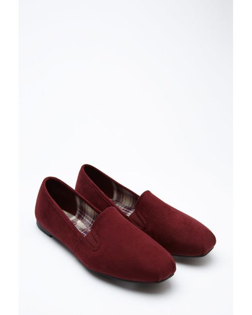 Forever 21 | Purple Faux Suede Loafers | Lyst