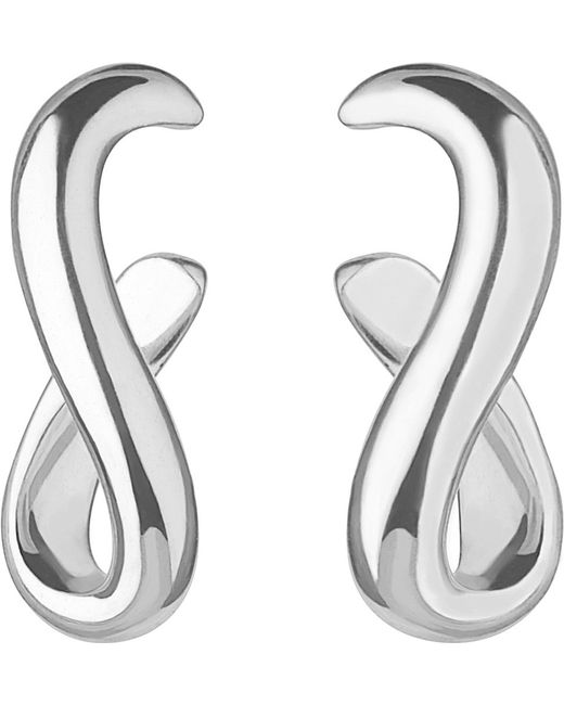 Links of London | Metallic Essentials Infinity Sterling Silver Earrings | Lyst