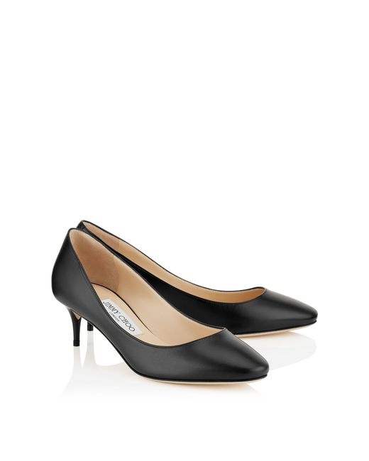 Jimmy Choo | Esme 50 Black Kid Leather Round Toe Pumps | Lyst