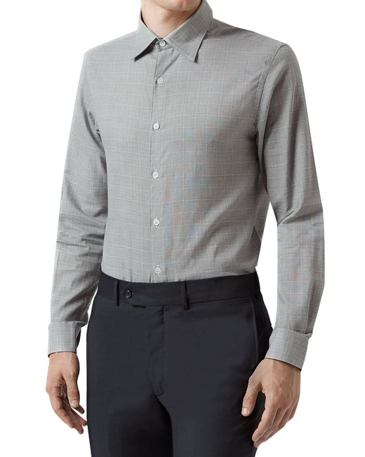 Aquascutum | Gray Tobias Check Shirt for Men | Lyst