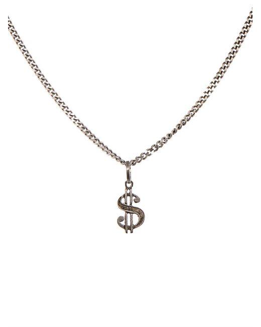 Saint Laurent | Metallic Dollar Sign Necklace for Men | Lyst
