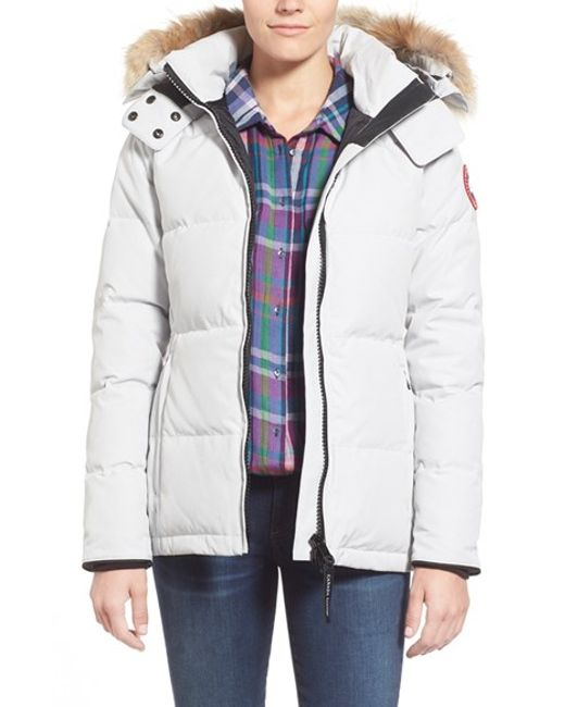 Canada Goose | White Chelsea Quilted Parka | Lyst