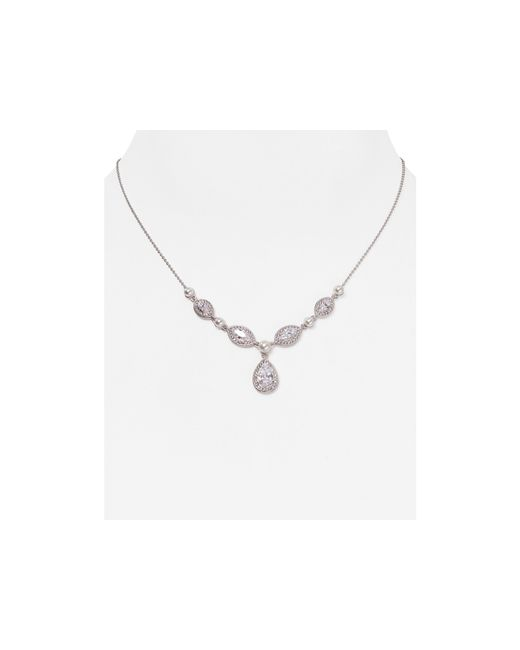 Nadri | Metallic Teardrop Pendant Necklace, 16"