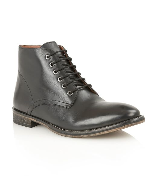 Frank Wright | Brown Oval Mens Lace-up Boots for Men | Lyst