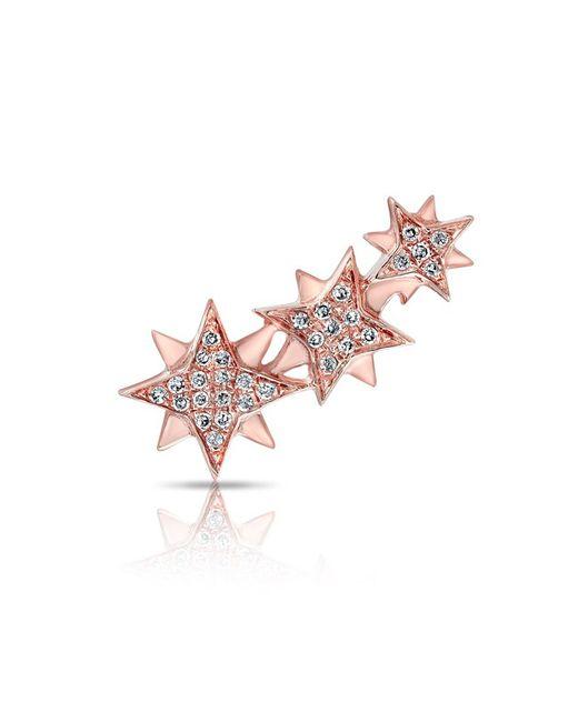 Anne Sisteron - Pink 14kt Rose Gold Diamond Stars Ear Climber - Lyst