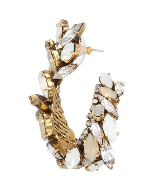 Erickson Beamon | Whiter Shade Of Pale Goldplated Swarovski Crystal Earrings | Lyst