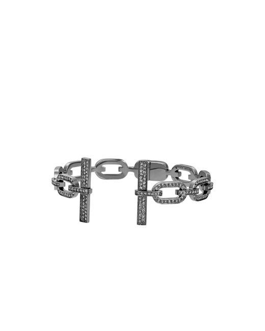 Michael Kors | Metallic Pavé Black-tone Hinge Cuff | Lyst