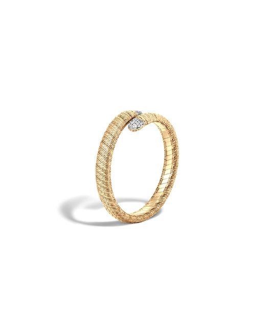 John Hardy | Metallic Classic Chain 18k Gold Diamond Pave Single Coil Bracelet | Lyst