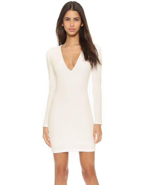 Bec & Bridge | White Long Sleeve Reversible Mini Dress | Lyst