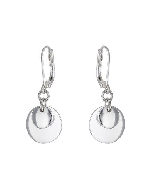 Lauren by Ralph Lauren | Metallic Double Disk Drop Earrings | Lyst