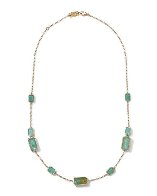 Ippolita | Metallic 18k Gold Rock Candy Gelato 9-stone Rectangle Necklace | Lyst