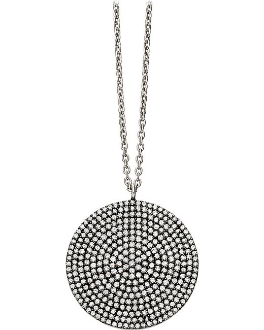 Astley Clarke | Black Large Icon 14ct White-gold And Diamond Pendant Necklace | Lyst