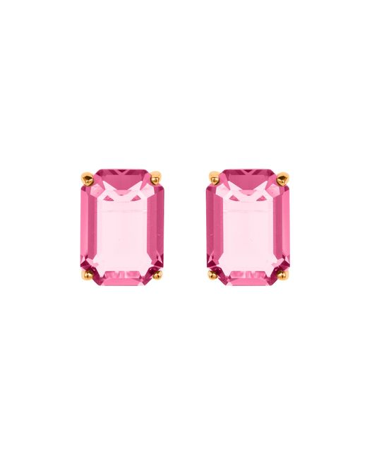 Aurora | Pink Baguette Stud Earrings | Lyst