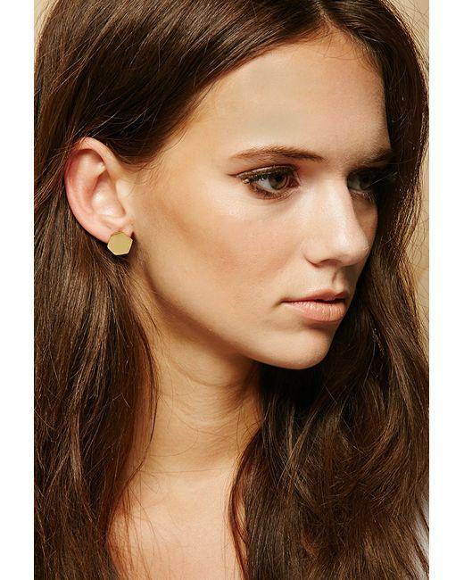 Forever 21 | Metallic Made Pembe Sita Stud Earrings | Lyst