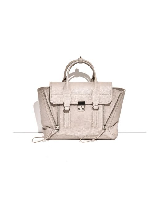 3.1 Phillip Lim - Gray Pashli Medium Leather Satchel - Lyst