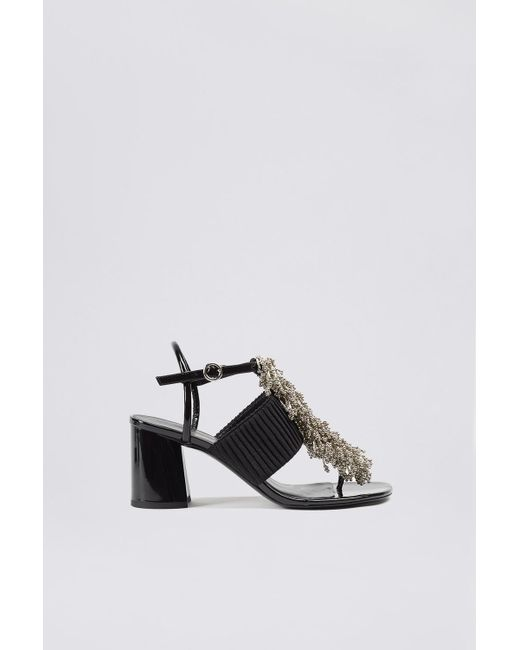 3.1 Phillip Lim - Black Drum Beaded Sandal - Lyst
