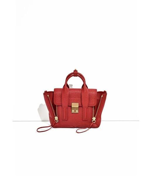 3.1 Phillip Lim - Red Pashli Mini Leather Satchel - Lyst