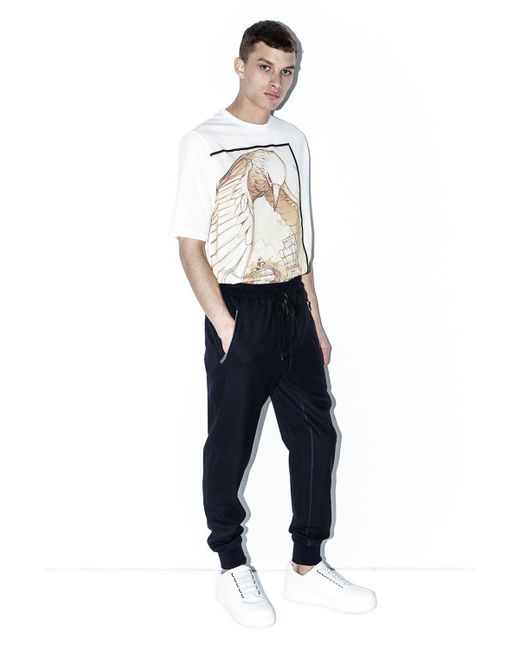 3.1 Phillip Lim - Blue Dropped-rise Tapered Sweatpant for Men - Lyst