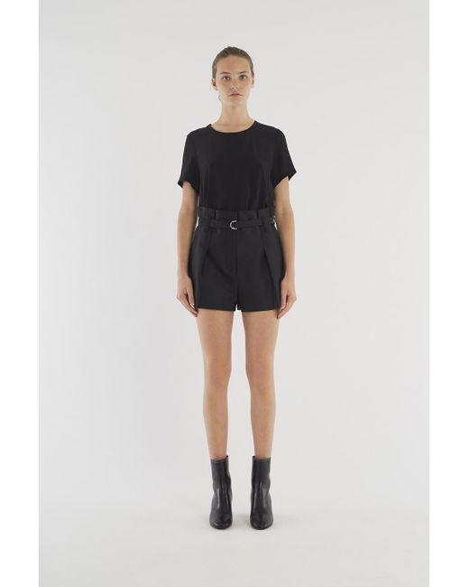 3.1 Phillip Lim | Black Origami-pleated Short | Lyst