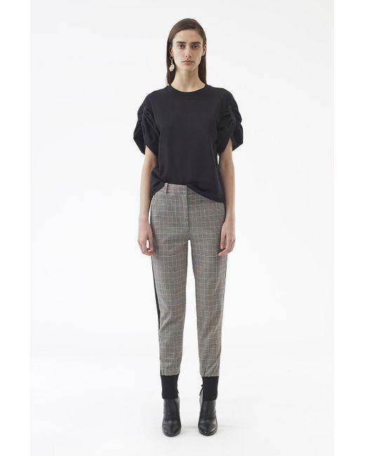 3.1 Phillip Lim - Black Checked Wool Jogger - Lyst