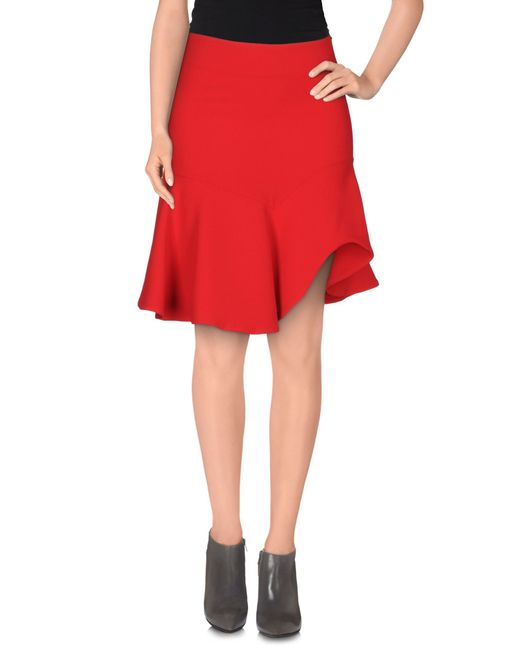 Space Style Concept | Red Knee Length Skirt | Lyst