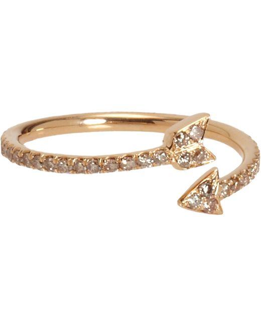 Finn white diamond arrow ring size os in metallic lyst for Jewelry storm arrow ring
