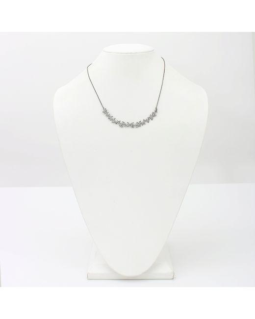 Colette | White Diamond Pattern Necklace | Lyst