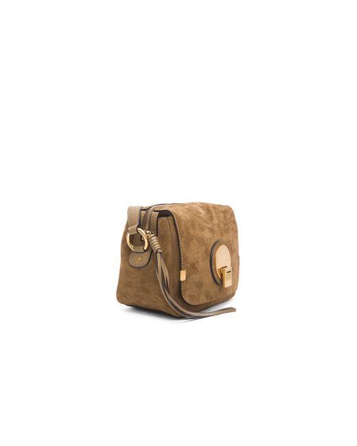 chloe black suede small indy bag
