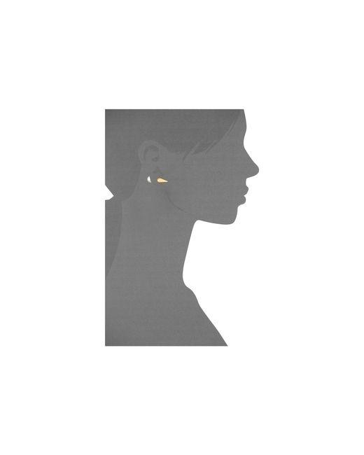 Majorica | Metallic Spiked Back Pearl Stud Earrings | Lyst