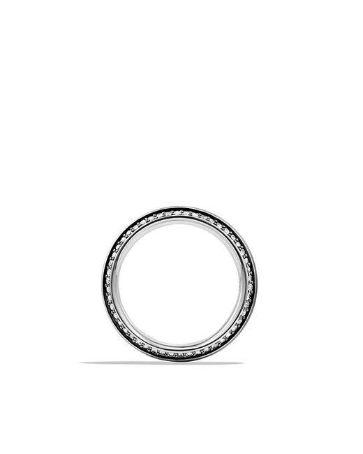 David Yurman | Meteorite Knife-edge Band Ring With Gray Sapphires for Men | Lyst