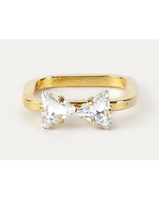 Sabrina Dehoff   Metallic Bowtie Ring   Lyst