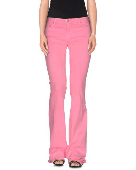 Twin Set   Purple Denim Pants   Lyst