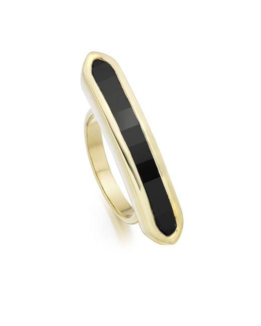 Monica Vinader | Black Baja Long Ring | Lyst