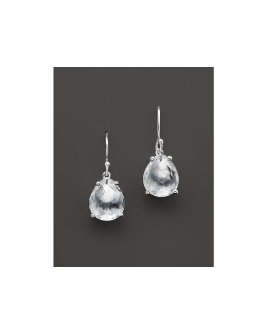 Ippolita | Metallic Rock Candy Sterling Silver Pear Drop Earrings In Clear Quartz | Lyst