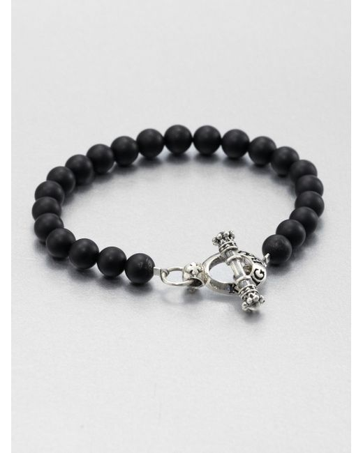 King Baby Studio | Metallic Black Onyx Beaded Bracelet | Lyst