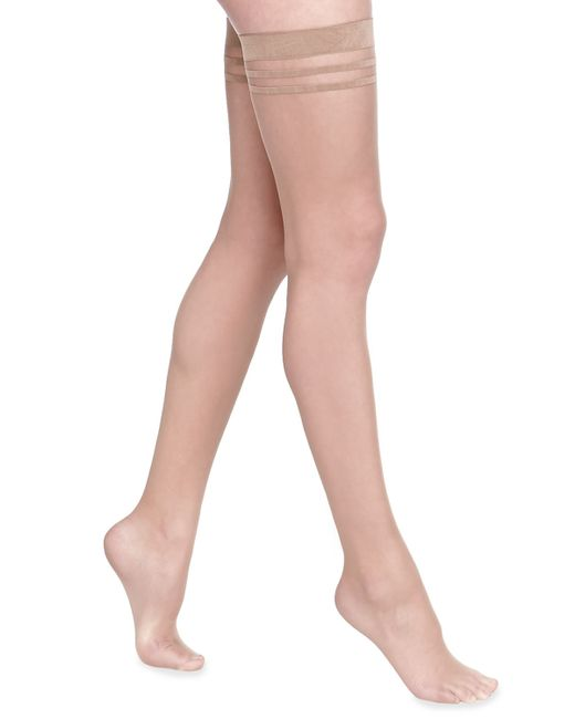 Alice  Olivia Opaque Thigh-High Stockings In Beige Nude - Save 21  Lyst-3369