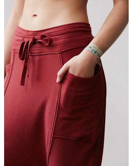 Free People | Red Right On Pant Battu Cover Up | Lyst
