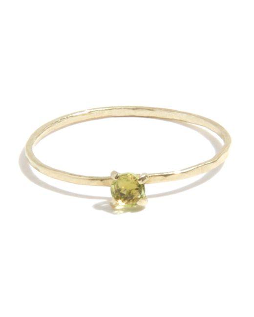 Melissa Joy Manning | Green Prong Set Peridot Ring | Lyst