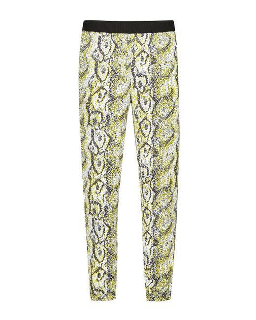 French Connection | Green Soho Boa Drape Trousers | Lyst
