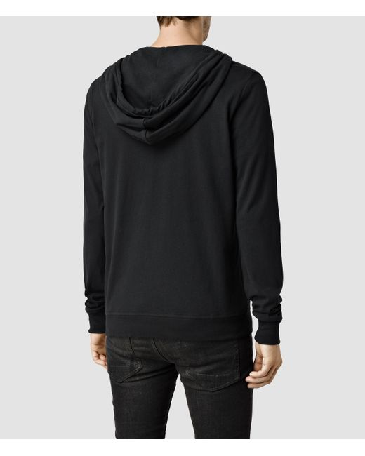 AllSaints | Black Brace Hoody | Lyst