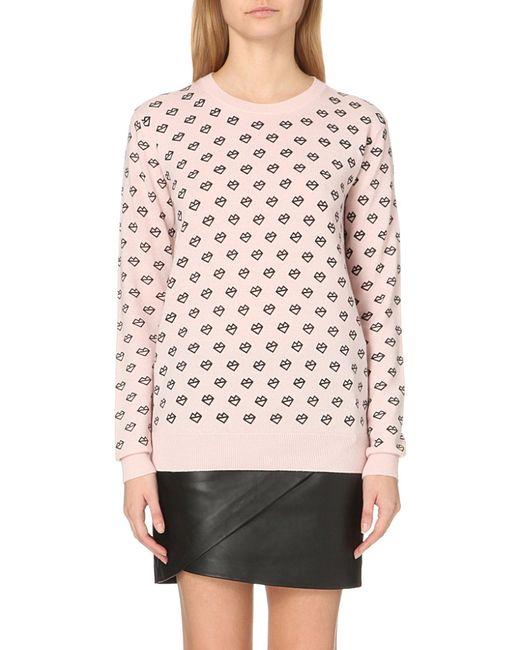 Markus Lupfer | Pink Natalie Printed Merino Wool Jumper | Lyst