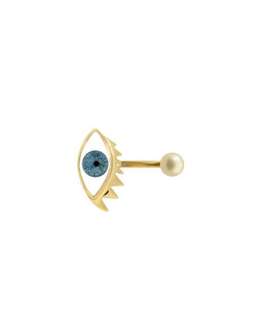 Delfina Delettrez   Eye Piercing Ring In Glittered Light Blue   Lyst