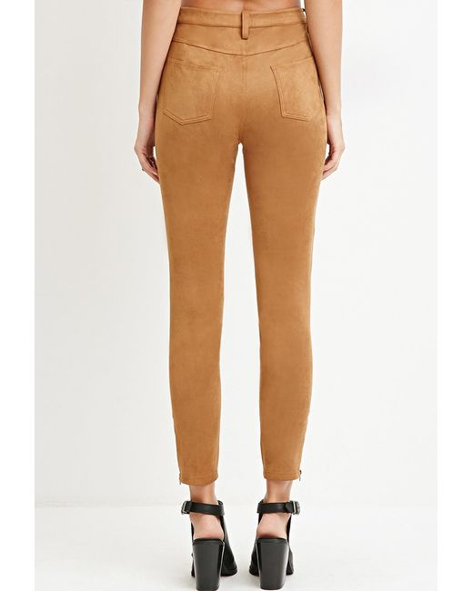 Forever 21 | Brown Faux Suede Pants | Lyst