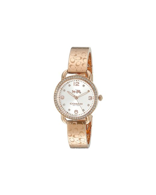 COACH | Metallic Delancey 28mm Bangle Watch | Lyst