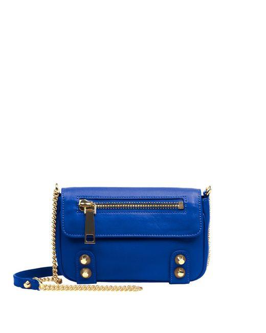 Linea Pelle | Blue Dylan Crossbody Mini Bag | Lyst