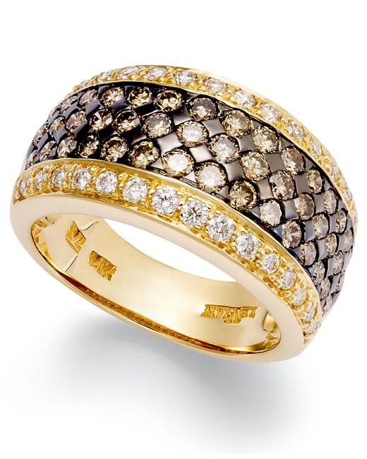 Le Vian | Yellow Chocolate And White Diamond Band Ring In 14k Gold Or 14k White Gold (1-5/8 Ct. T.w.) | Lyst